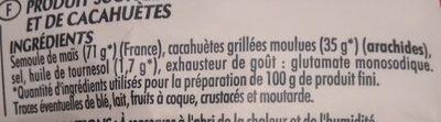 CRAQUILLES CACAHUETES - Ingrédients - fr