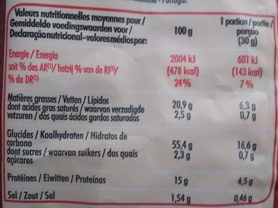 CRAQUILLES CACAHUETES - Informations nutritionnelles - fr