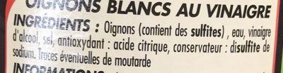 Petits Oignons Blancs - Ingrediënten