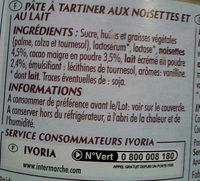 Pâte à tartiner noikao duo - Informations nutritionnelles - fr