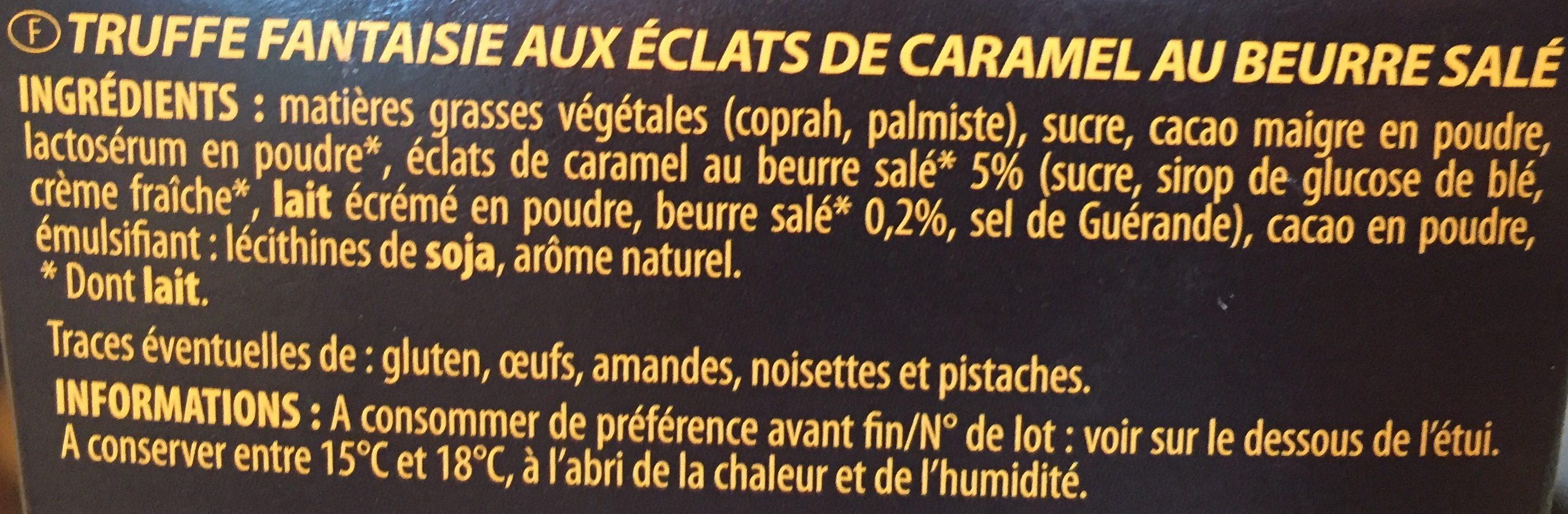 Ivoria Ball Truf Caramel - Ingredients
