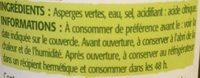 Asperges vertes pic-nic - Ingredients - fr