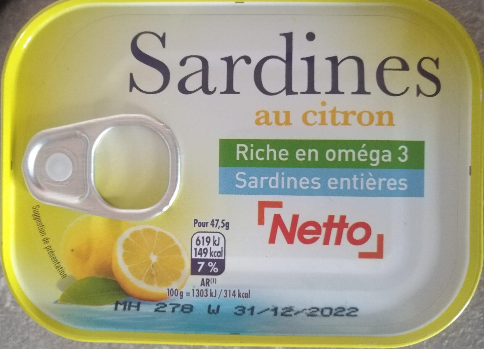 Sardines au citron - Produit - fr