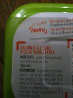 Netto Sardine Huile d Olive - Ingrédients - fr