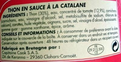 Thon à la Catalane - Ingredients