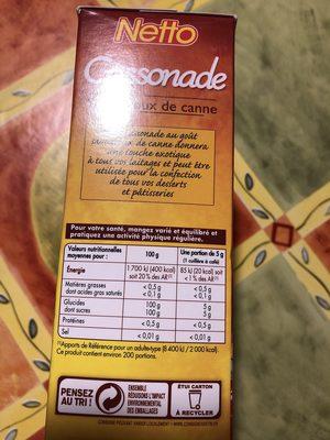 Cassonade - Ingredients