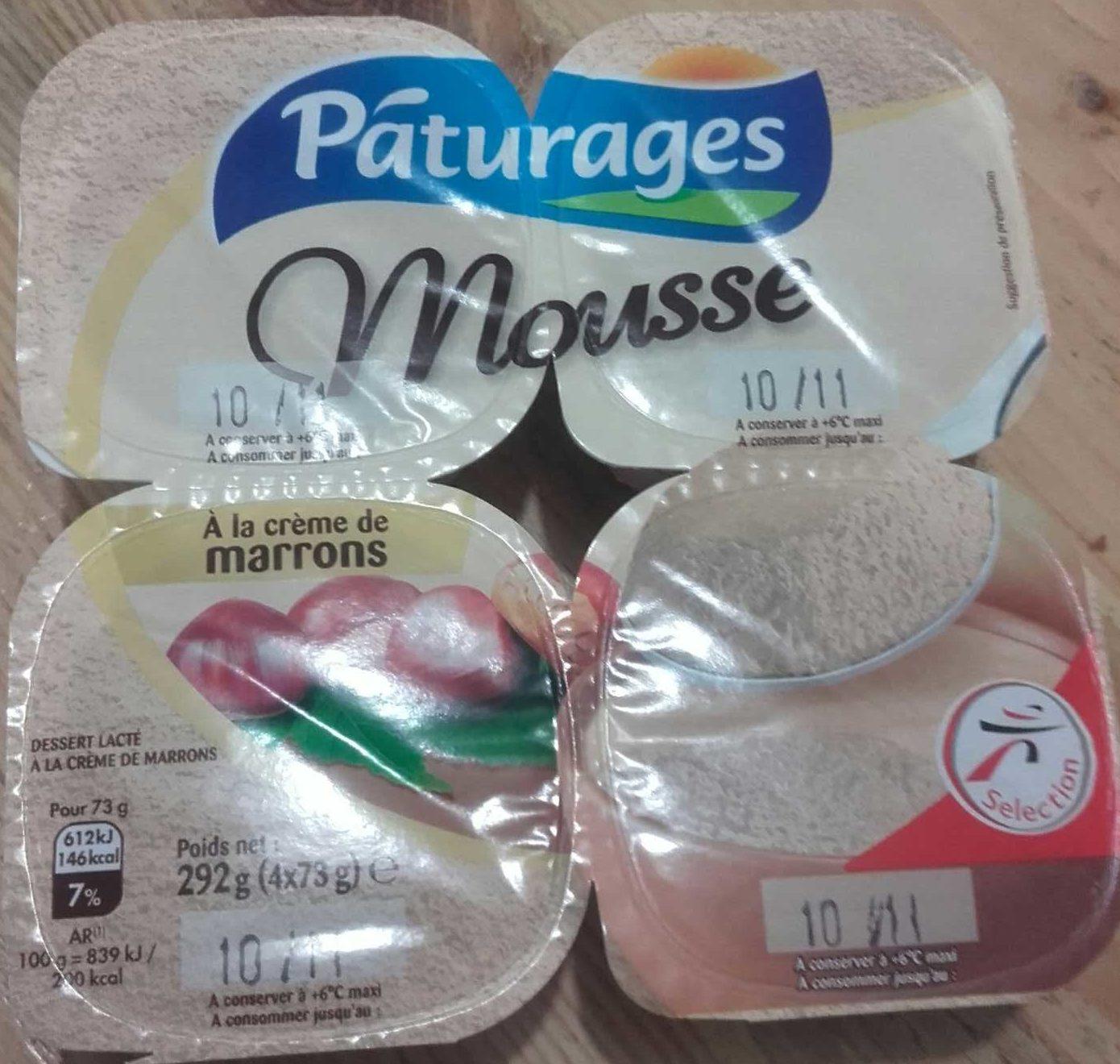 Mousse la cr me de marrons p turages 292 g 4 x 73 g - Mousse a la creme de marron ...
