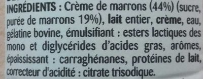 Mousse à la crème de marrons - Ingredients