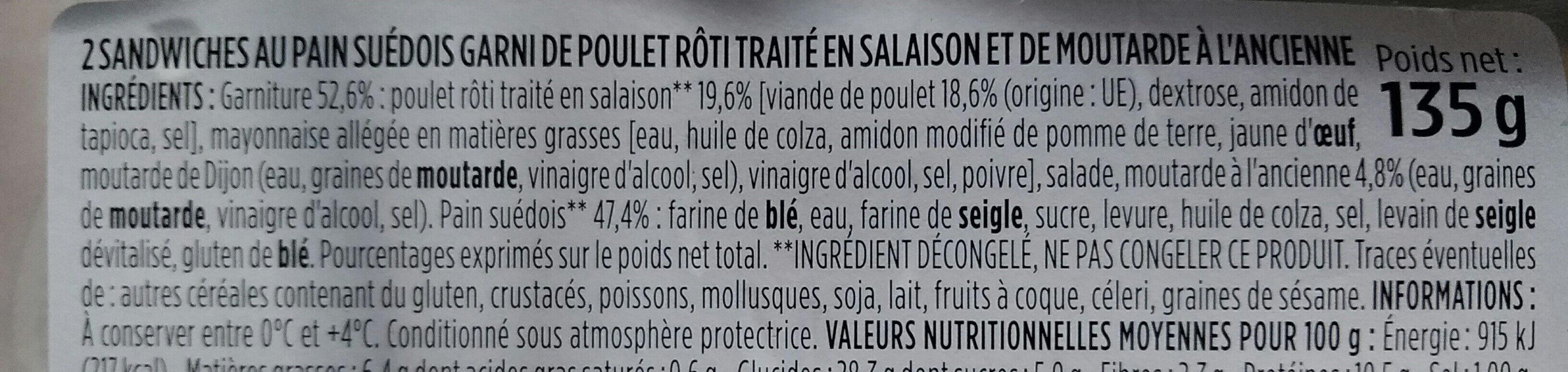 Poulet rôti moutarde à l'ancienne - Ingrediënten - fr