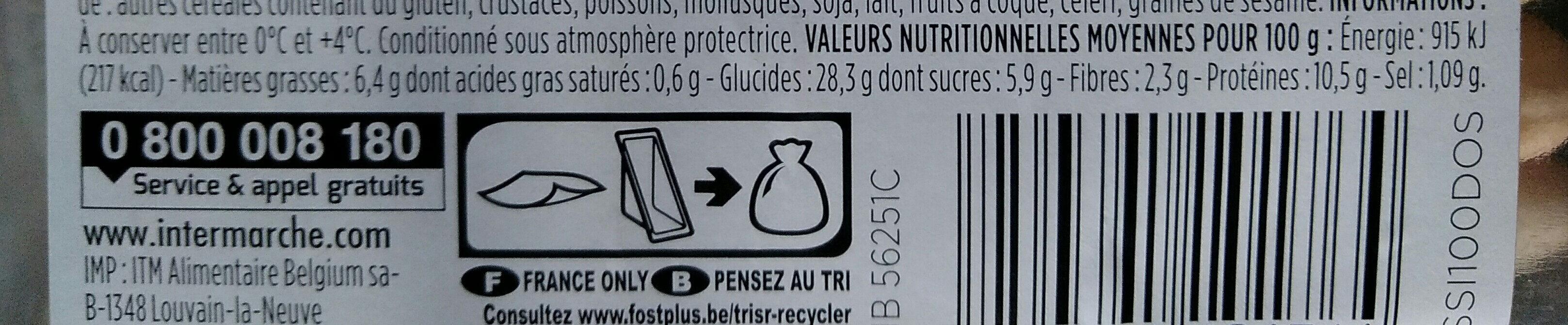 Poulet rôti moutarde à l'ancienne - Voedingswaarden - fr