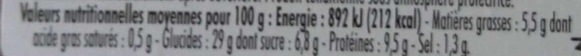 Poulet rôti moutarde à l'ancienne - Voedingswaarden