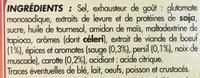 Bouillon goût Bœuf - Ingredients