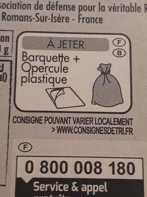 Ravioles du Dauphiné IGP label Rouge - Recyclinginstructies en / of verpakkingsinformatie - fr