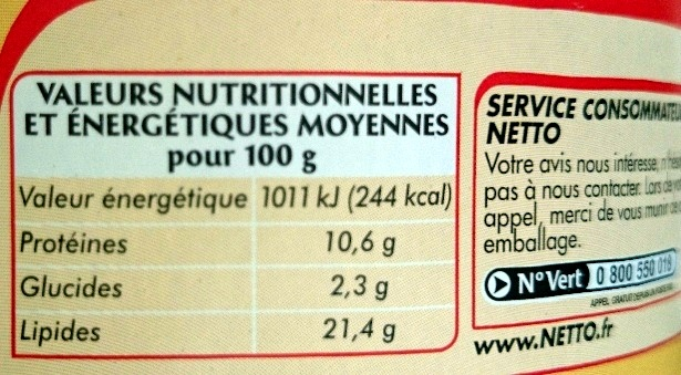 Thon sauce mayonnaise - Informations nutritionnelles - fr