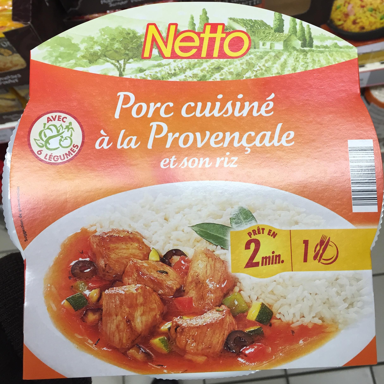 Porc cuisiné à la Provençale et son riz - Product