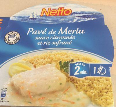 Merlu sauce citronnée et riz safrane - Product
