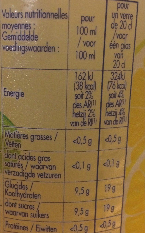 Look fun avec jus de citron - Informations nutritionnelles - fr
