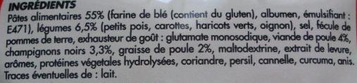 Soupe Chinoise à la poule - Ingrédients - fr