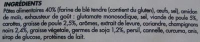 Soupe Chinoise aux 7 Parfums - Ingrédients - fr