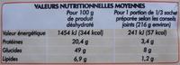 Soupe Chinoise aux 7 Parfums - Informations nutritionnelles - fr