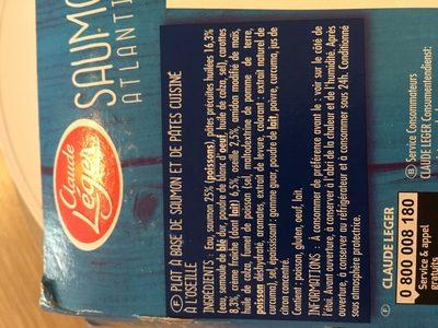 Saumon Atlantique Sauce à l'oseille et Ses Torsades - Ingredients - fr