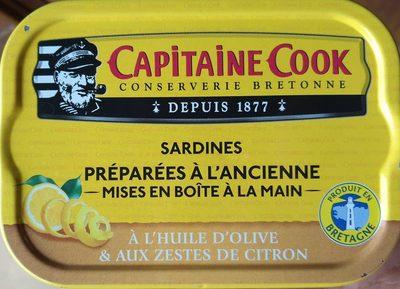 Sardines à l'huile d'olive vierge extra et aux zestes de citron - Produit - fr