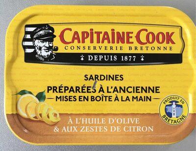 Sardines à l'huile d'olive vierge extra et aux zestes de citron - Informations nutritionnelles - fr