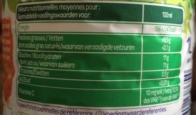 100% Pur jus Clémentine - Nutrition facts