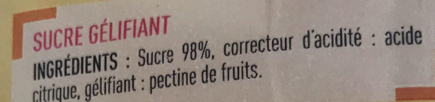 Sucre à confiture - Ingrédients