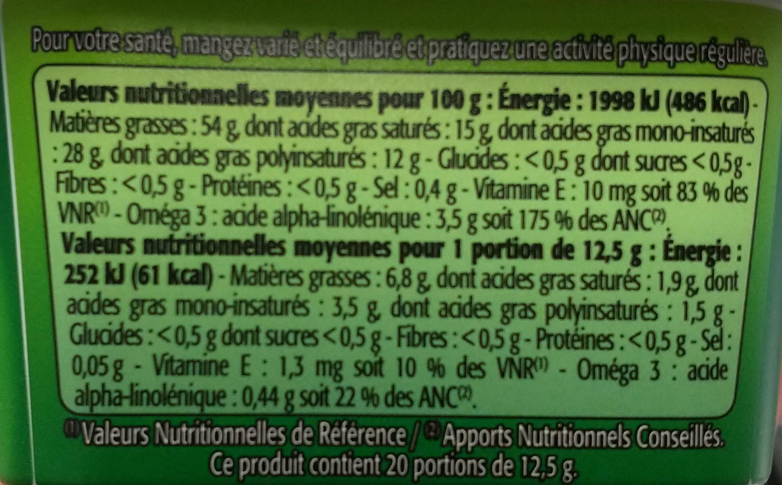 Riche en Oméga 3 - Tartine et Cuissonqui contribue au maintien d'un cholesterol normal - Nutrition facts - fr