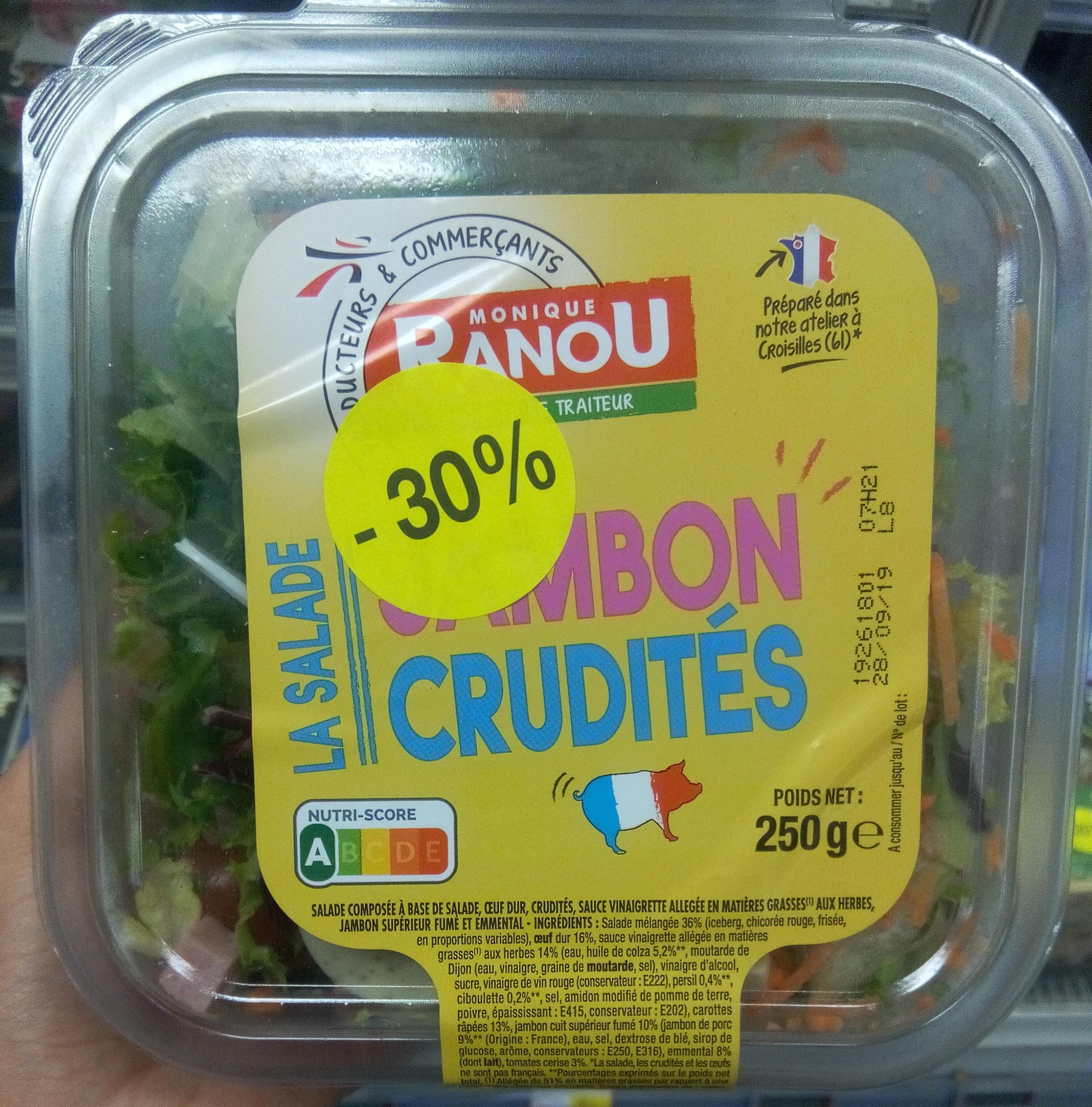 Salade jambon crudités - Produit - fr