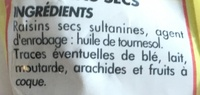 Raisins secs - Ingrediënten