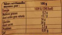 Pruneaux d'Agen entiers Très gros - Informations nutritionnelles - fr