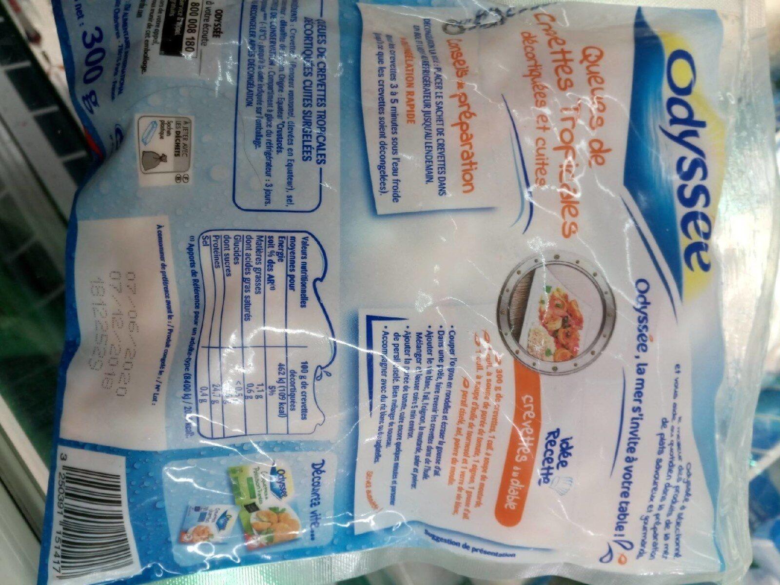 Crevettes Nordiques Décortiquées Cuites - Informations nutritionnelles