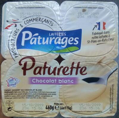 Paturette - crème dessert chocolat blanc - Product - fr