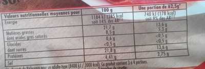 Assortiment Italien - Informations nutritionnelles - fr
