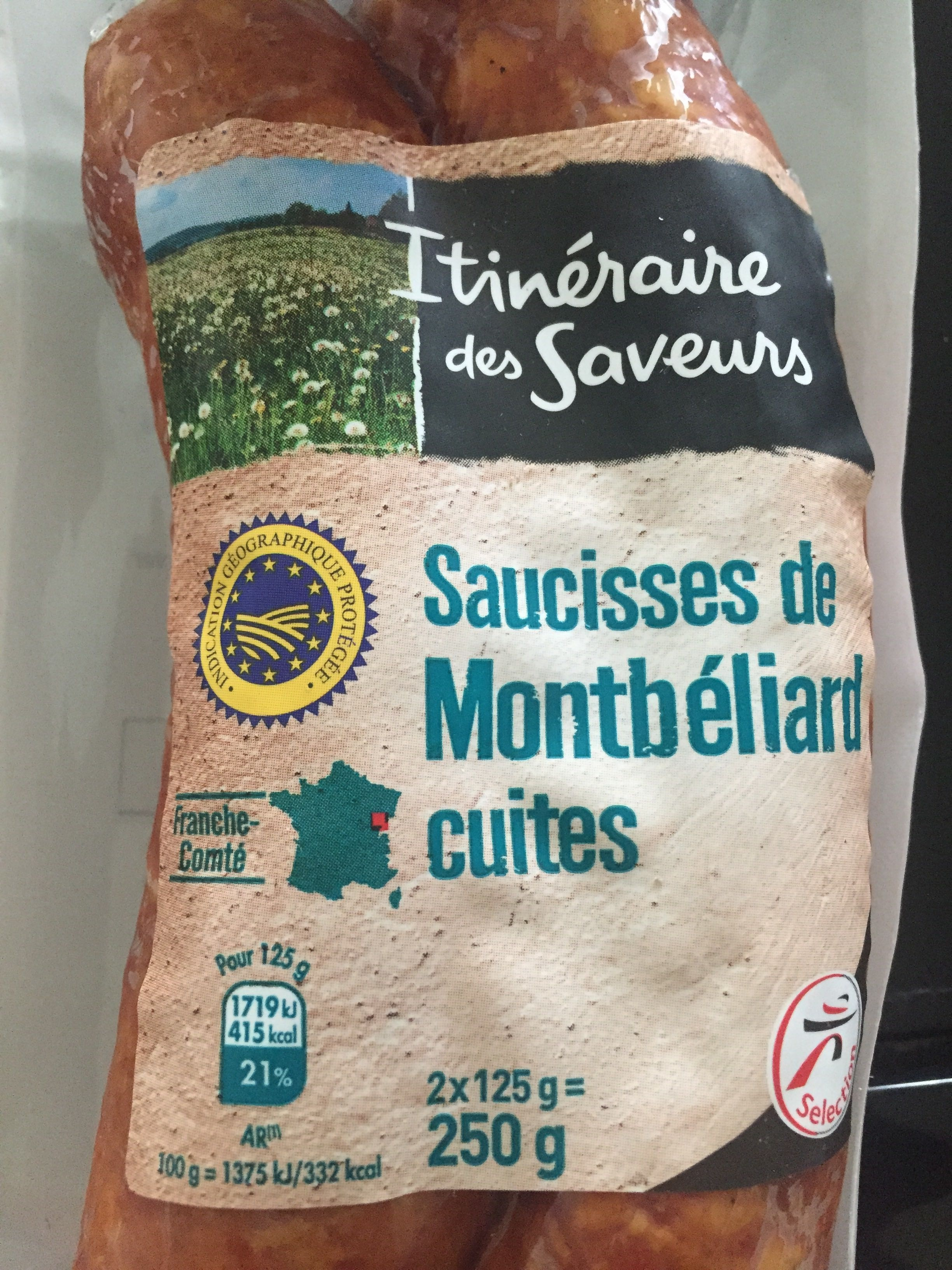Saucisses de Montbéliard cuites - Product - fr