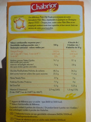 Petit dej matin gourmand - Voedingswaarden - fr