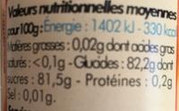 Nappage caramel - Informations nutritionnelles - fr