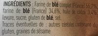 Petit pains grillés - Ingredientes - fr