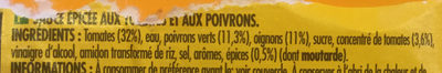 Salsa Medium - Ingredients - fr