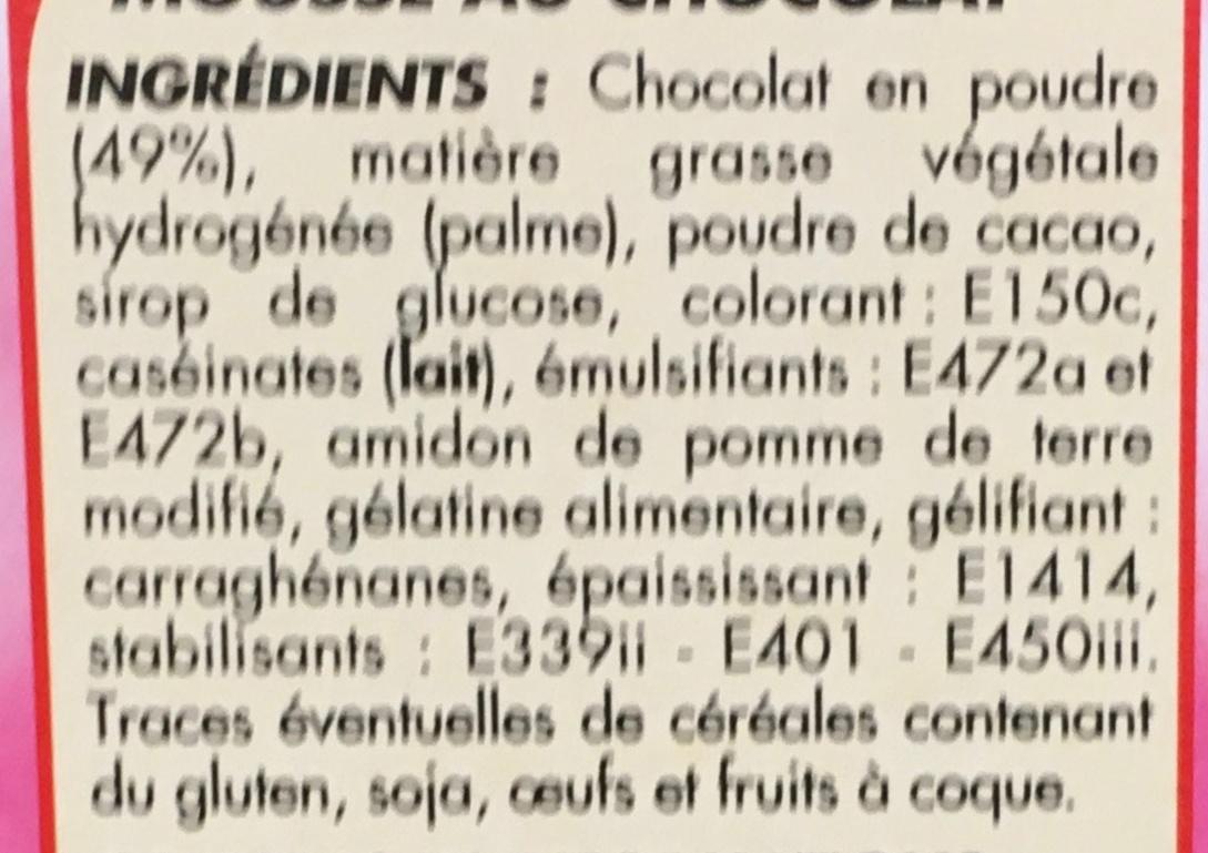 Préparation pour Mousse au Chocolat - Ingrediënten - fr