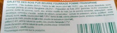 Galette des rois pomme frangipane - Ingredients - fr
