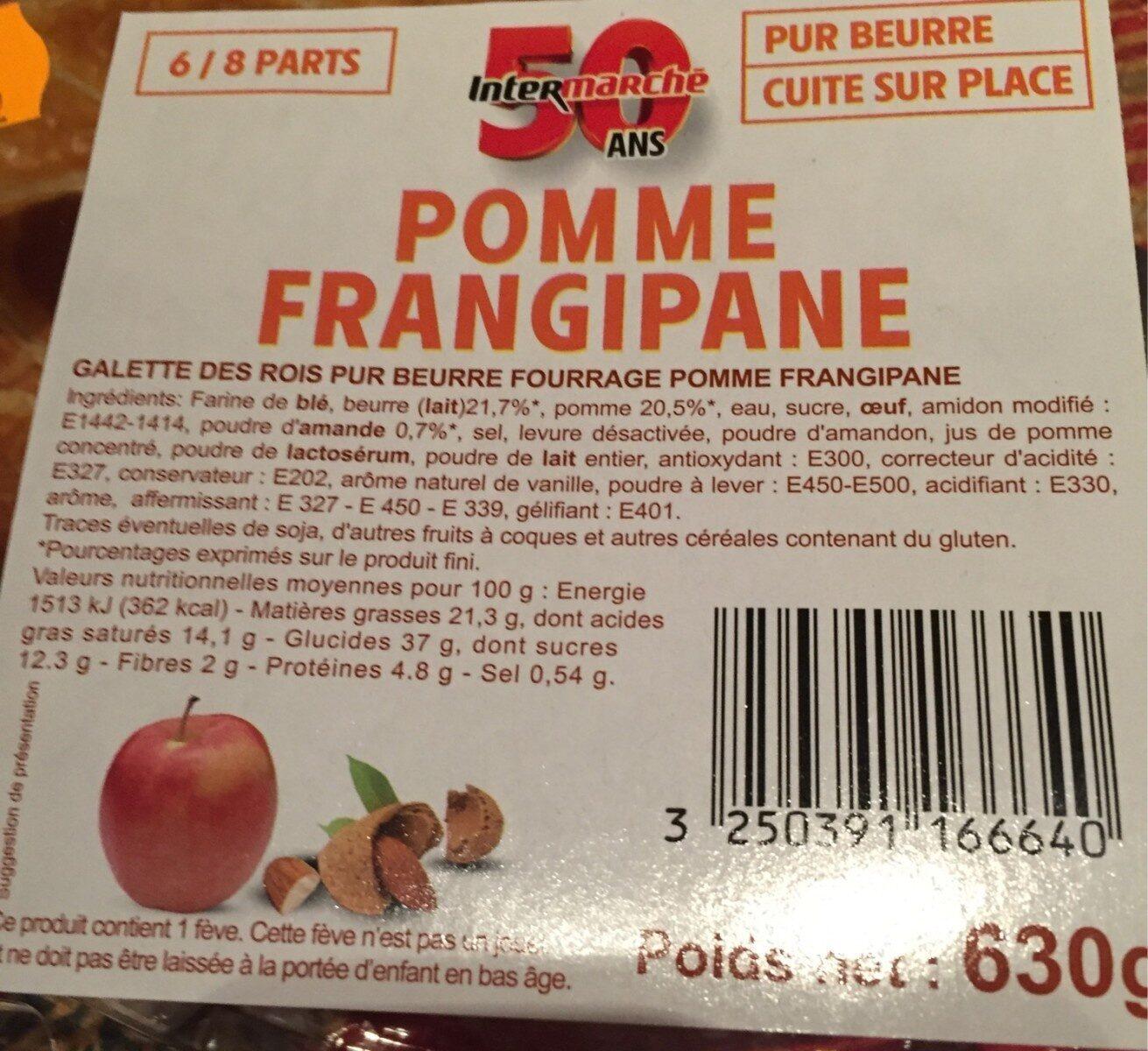 Galette des rois pomme frangipane - Nutrition facts - fr