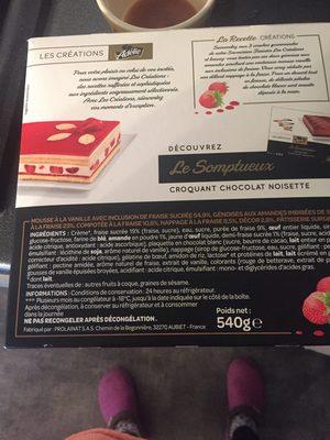 Le savoureux Fraisier - Ingredients