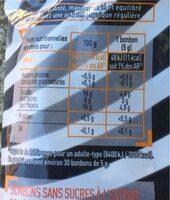Bonbon réglisse sans sucre - Informations nutritionnelles - fr
