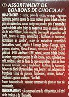 Ballotin 198g  Assortiment Noir - Ingredients