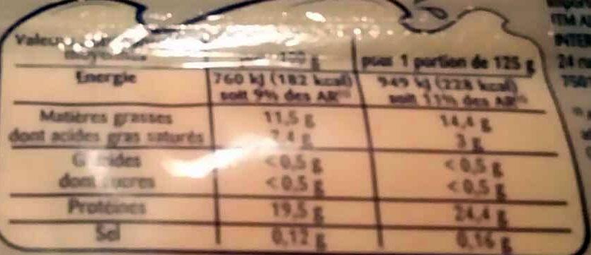 Pavés de saumon atlantique - Voedingswaarden - fr