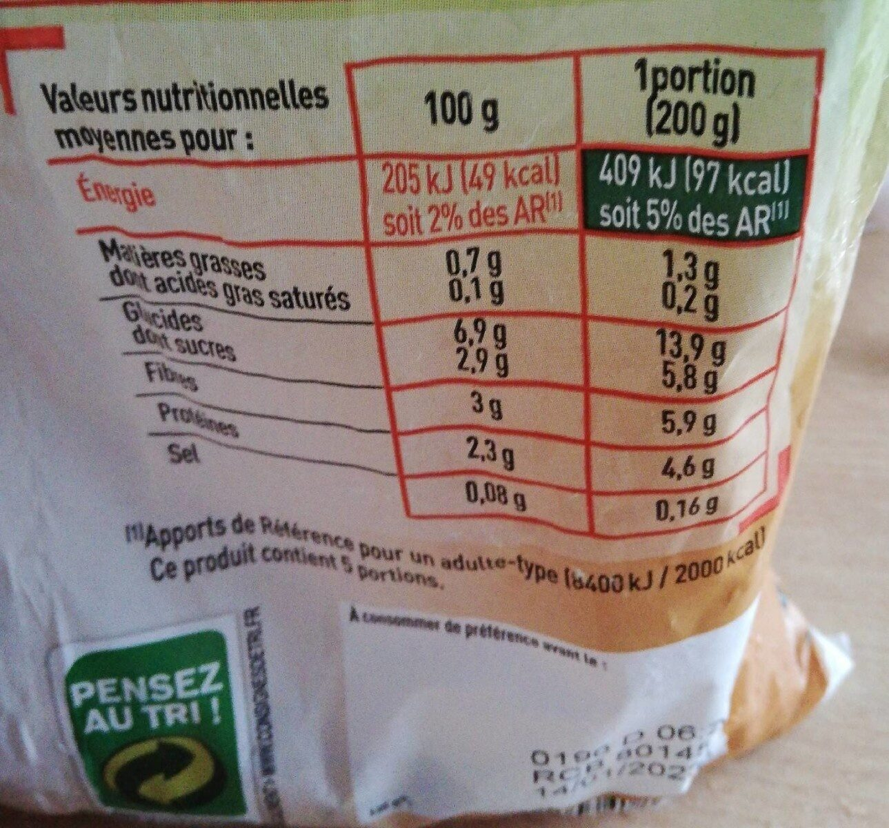 Netto Legumes Pour Couscous Surgele - Valori nutrizionali - fr