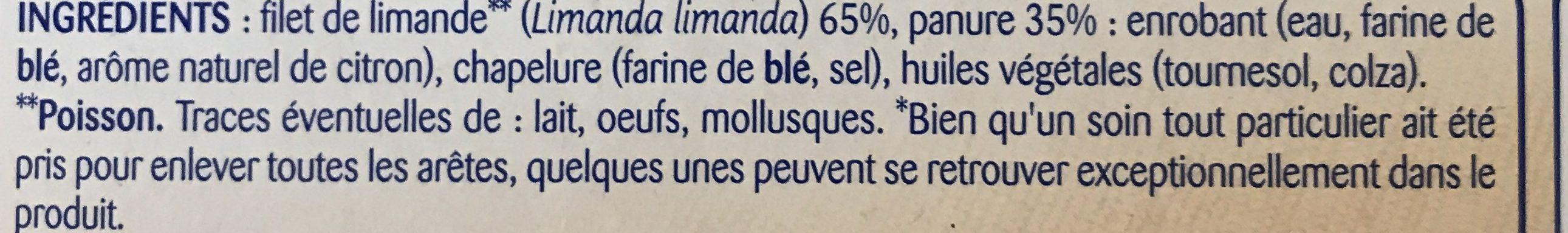 Filets Limande Panés - Ingredients